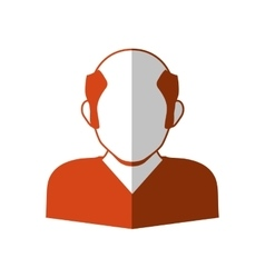 Man head and torso silhouette icon avatar male vector