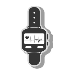 Smart watch cardio icon vector