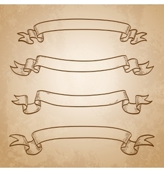 Set of banners vintage ribbons vector