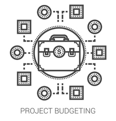 Project budgeting line icons vector