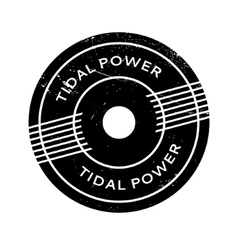 Tidal power rubber stamp vector