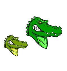 Green wild alligator vector image