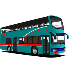 Double decker sightseeing bus vector