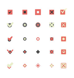 Colorful icons that shows marking choice vector