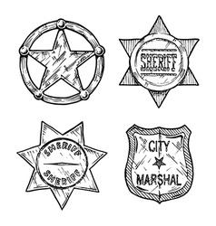 Sheriff stars vector