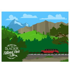 Touring glacier national park vector
