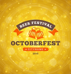 Octoberfest celebration retro style badge template vector