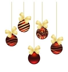 Christmas balls template vector