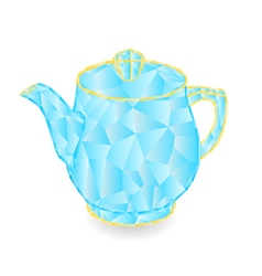Teapot polygons part of porcelain vector