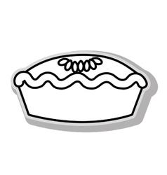 Delicious pie dessert vector
