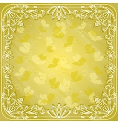 Background butterflies and flowers vector image vector image