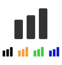 bar chart increase icon vector image