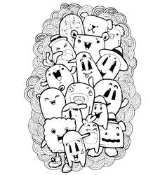 Cartoon doodle sketch vector
