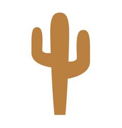 desert cactus isolated icon vector image