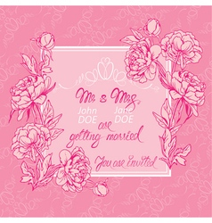 Flowers pink card 3 380 vector