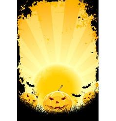 halloween pumpkins vector image vector image