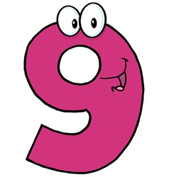 Happy Number Nine vector image vector image