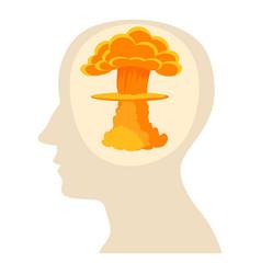Head with explosion icon cartoon style vector