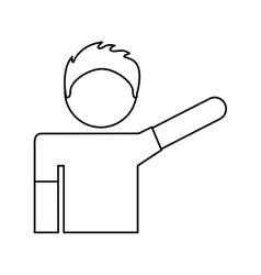Human figure isolated icon vector