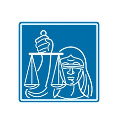 Lady blindfolded holding scales of justice vector