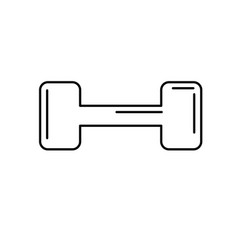 Line dumbbell instrument to do exercise in the gym vector