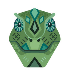 Lizard head logo iguana decorative emblem vector