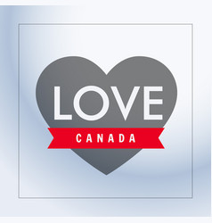 Love canada with heart vector