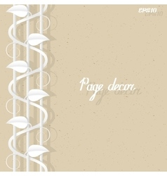 Page border decor template vector