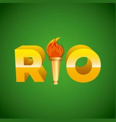 rio design vector image