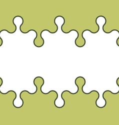 seamless puzzle wallpaper vector image vector image