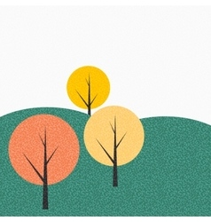 Simple autumn tree background vector
