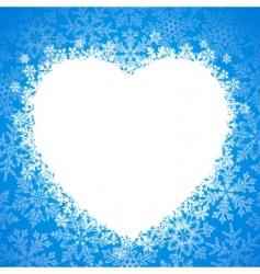 snow frame snow heart vector image vector image