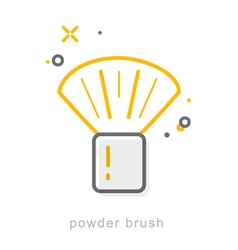 Thin line icons powder brush vector