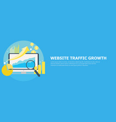 website traffic growth banner vector image