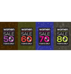 Women Tennis Apparel Super Sale 6250x2500 Pixel vector image vector image