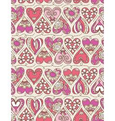 beige background with pink decorative valentine vector image