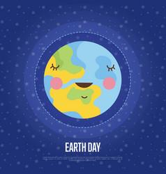 Earth day cartoon web banner vector