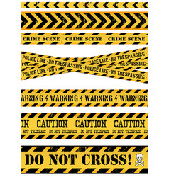 Police line crime scene and warning tapes vector