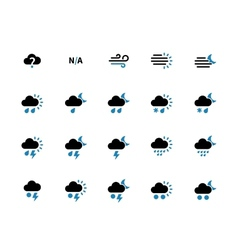 Weather duotone icons on white background vector