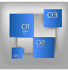 Business squares light blue with text vector