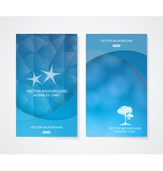 Abstract business cool blue banner set vector