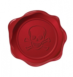 Red seal on white vector