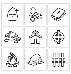False religion sect icons vector