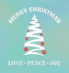 Christmas label with christmas tree vector image