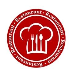 round restaurant icon vector image
