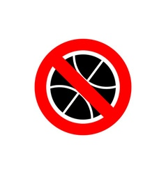 Stop basketball it is forbidden to play basketball vector