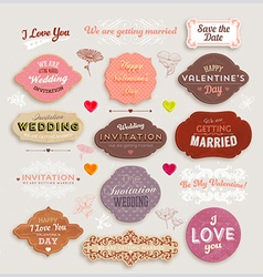 Romantic Label Set vector image