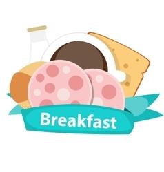 Best Breakfast Icon Background in Modern Flat vector image