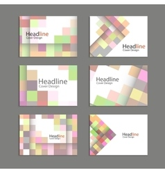 Abstract square pattern brochure vector