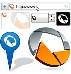 Business circle abstract logo design vector
